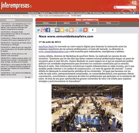 easyfairs, salones profesionales, Ferias de Madrid