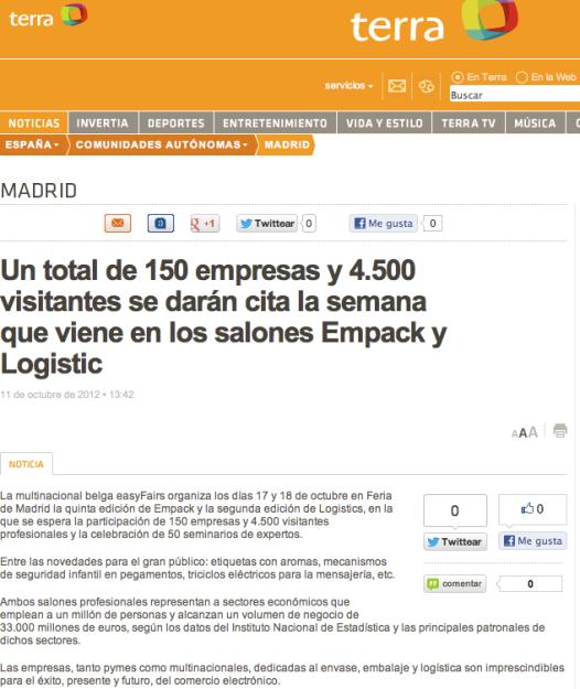 feria envase y embalaje feria logistica Madrid