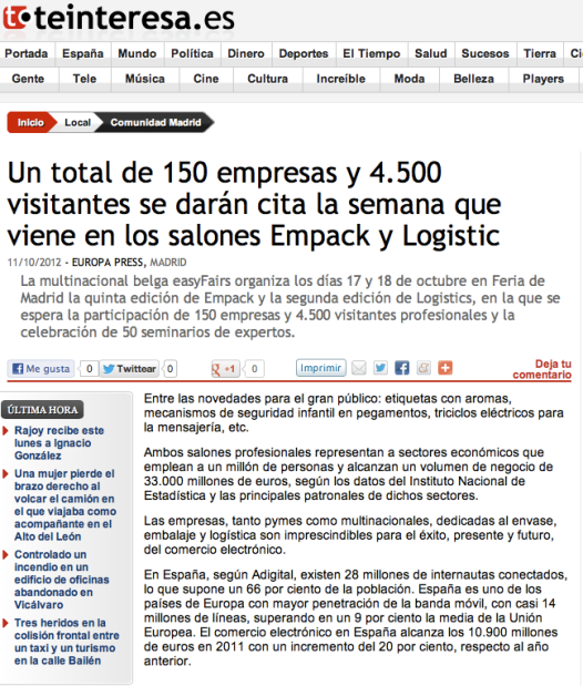 foro supply chain en madrid empack logistics