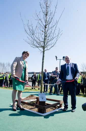 First Minister of Northern Ireland and Plant Manager Jim Downey - Tree Planting