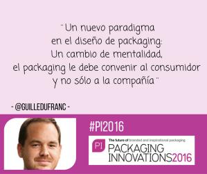 Guillermo Dufranc sobre su taller de innovación en Packaging Innovations Madrid 2016